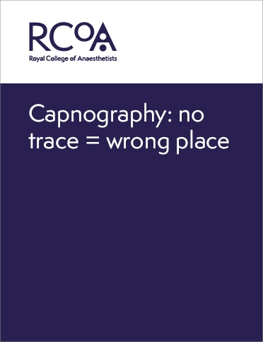 Front cover for capnography: no trace, wrong place