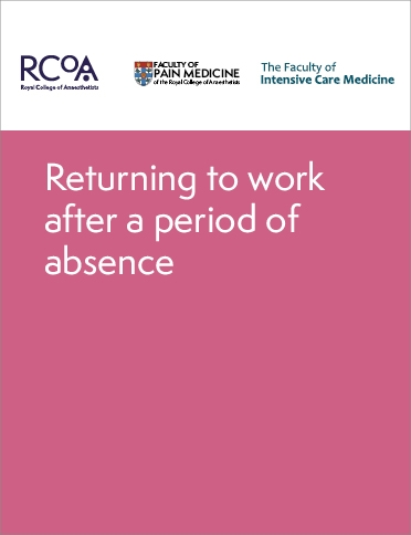 Front cover of Returning to work after a period of absence guidance