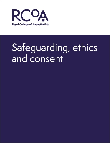 Front cover for safeguarding, ethics and consent guidance