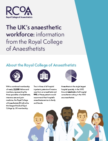The UK's anaesthetic workforce: information from the Royal College of Anaesthetists - cover